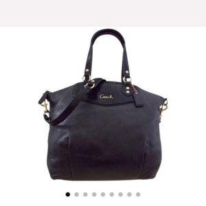 Coach Ashley Python black leather satchel